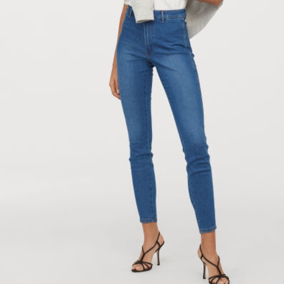 09d93fa5e H&M Jeans | Denim Blue Skinny High Ankle Hm | Poshmark